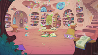 Spike alone in the library again S1E10