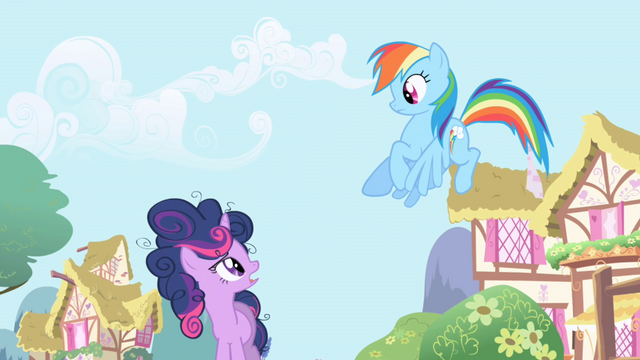 File:Twilight talks to Rainbow Dash about clearing the clouds S1E01.png