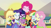 Twilight is welcomed by the Mane 6 EG3