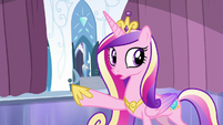 Cadance points at the door S6E2