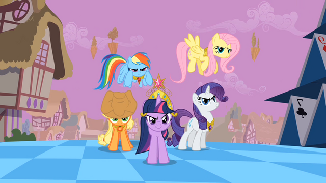 File:Main ponies Sans Pinkie Pie Confidence S2E2.png