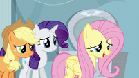Fluttershy asks Rainbow how she's feeling S5E5