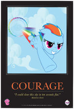 "Rainbow Dash ""Courage"" poster from ComicCon 2012"