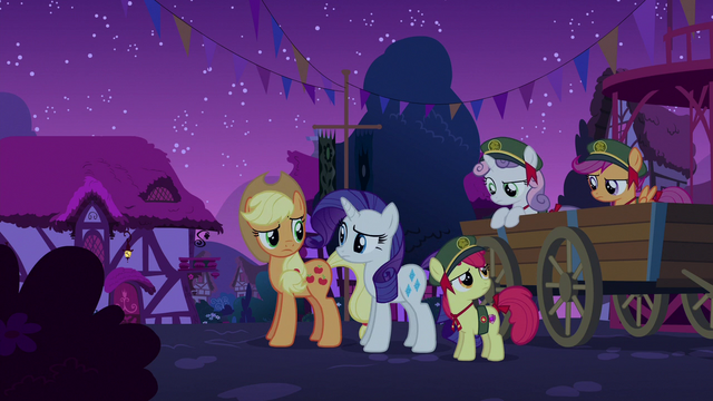 File:Rarity, AJ, and CMC look at each other S6E15.png