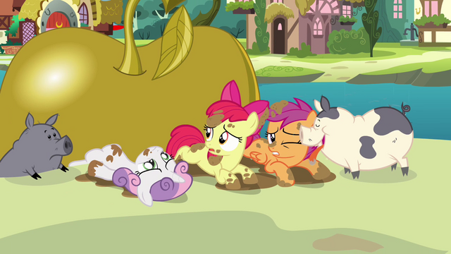 File:Apple Bloom 'Maybe we'll get our cutie marks in stupidest ideas of all time' S3E04.png