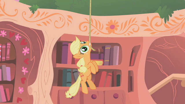 File:Applejack dangling from rope S01E08.png
