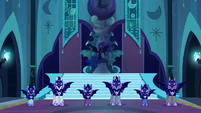 Nightmare Moon with her guards S5E26