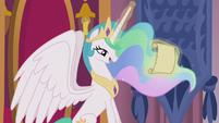 Princess Celestia receives a letter S5E18