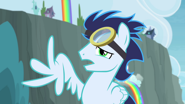 File:Soarin with broken wing S4E10.png