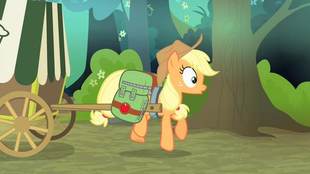 File:Applejack's cart gets hit S4E17.png