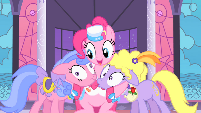 File:Pinkie with Lyrica and Royal Ribbon S01E26.png