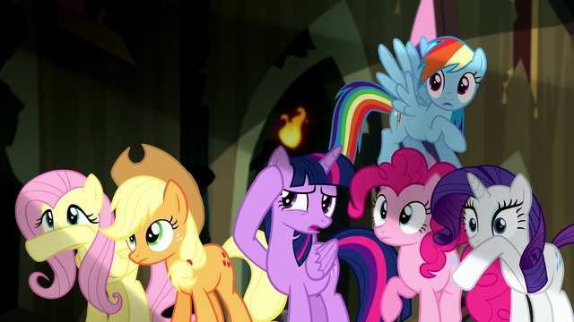 File:Mane Six shielding their eyes S5E13.png