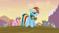 Rainbow Dash very happy S2E22