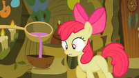 Apple Bloom looking at bowl S2E06