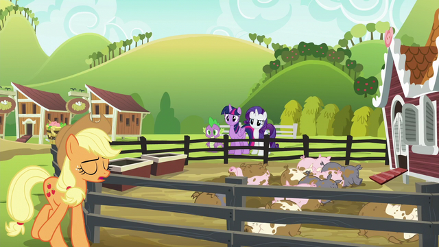 "File:Applejack ""sometimes the simplest things can just derail"" S6E10.png"