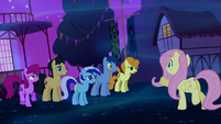 Fluttershy asks the other ponies for help S5E13