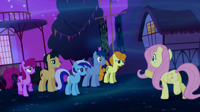 File:Fluttershy asks the other ponies for help S5E13.png