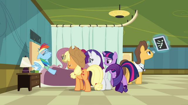 File:Rainbow Dash in hospital S2E16.png