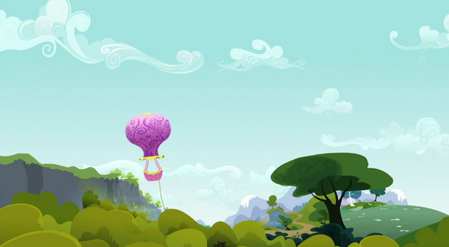 File:Balloon floats down Everfree Forest S3E09.png