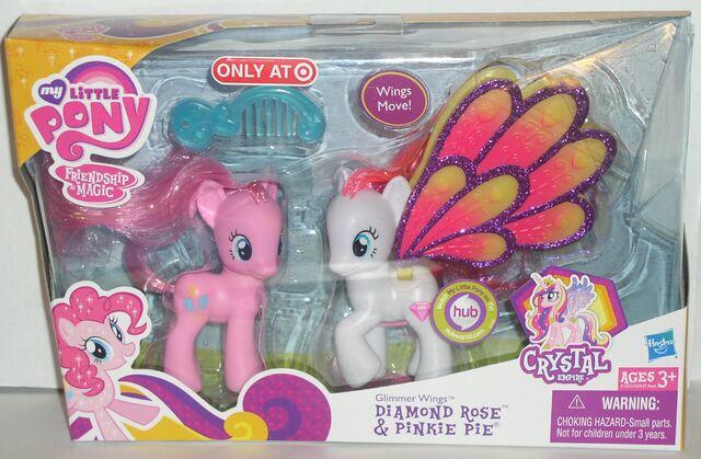 File:Glimmer Wings Diamond Rose and Pinkie Pie MIB.jpg