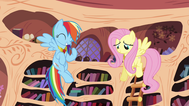 "File:Rainbow Dash and Fluttershy ""just like old times"" S4E01.png"