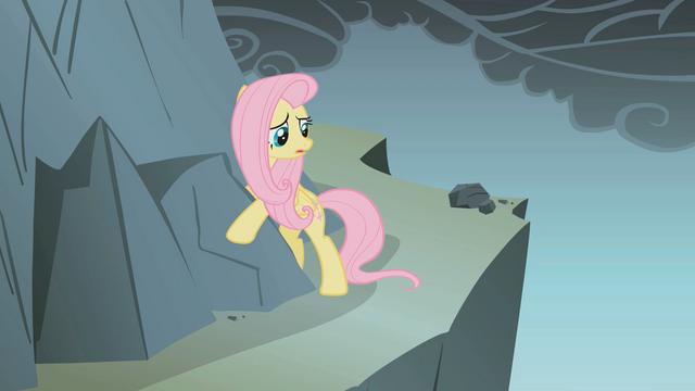File:Fluttershy hugs a rock S1E07.png