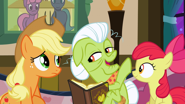 File:Granny Smith doesn't think the quilt will ever be finished S3E8.png