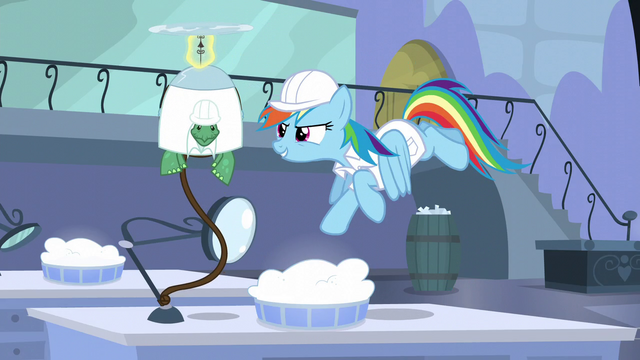 "File:Rainbow ""Wait here"" S5E5.png"
