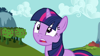 Twilight sees Ponyville about to be covered by a dome S3E05