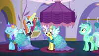 Upper Crust wearing a Princess Dress S5E14