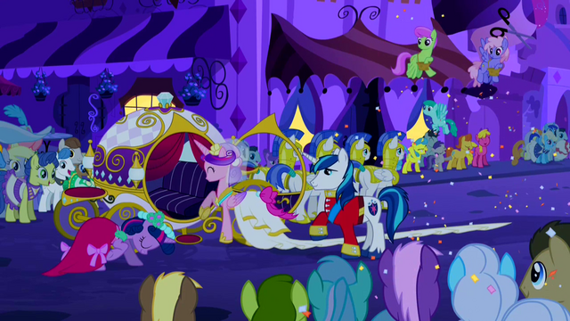 File:Princess Cadance getting into wedding wagon S2E26.png