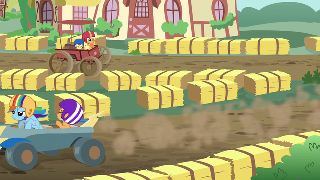 File:Scootaloo calls out to Apple Bloom on the track S6E14.png
