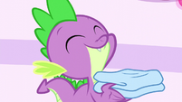 Spike smiling contently S5E13