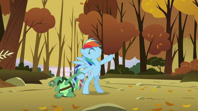 File:Rainbow makes her song-finishing pose while holding Tank's hand S5E5.png