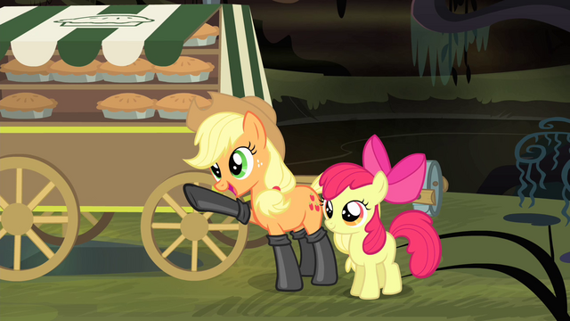 "File:Applejack ""wouldn't be enjoying these pies"" S4E17.png"