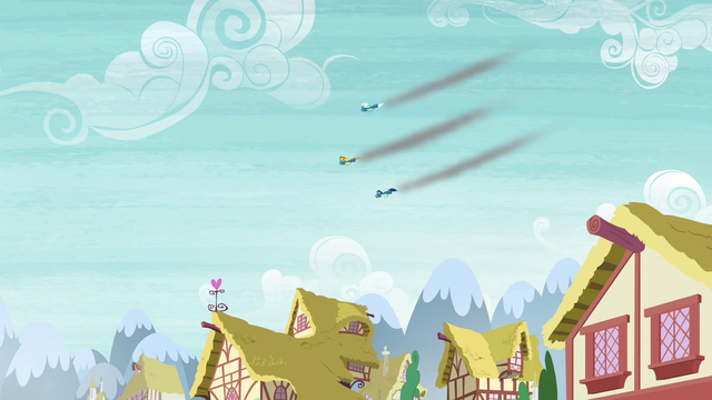 File:The Wonderbolts flying over Ponyville S6E7.png