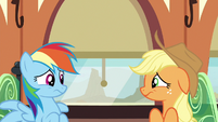 Rainbow and Applejack ashamed of themselves S6E18