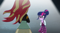 Twilight faces Sunset Shimmer EG3