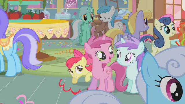 File:Apple Bloom hiding behind Ruby Pinch S1E12.png
