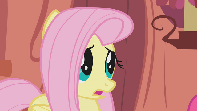 "File:Fluttershy gasps after hearing ""100 years"" S1E07.png"