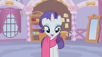 Rarity puts fabric over her S1E14
