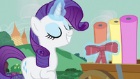 Rarity adding ribbon S3E8
