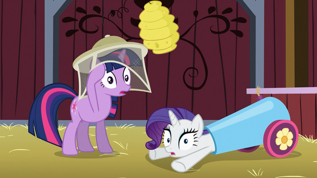 File:Twilight and Rarity gasp S03E09.png