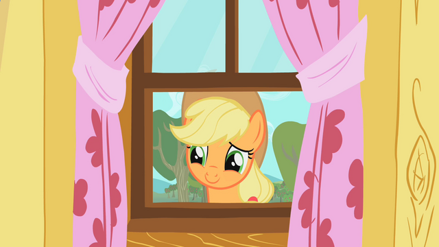 File:Applejack staring through window 2 S01E18.png