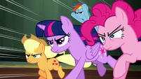 Mane Six race toward Princess Luna S5E13