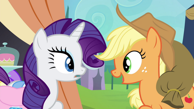 "File:Applejack ""why don't we pool our trade stashes?"" S4E22.png"