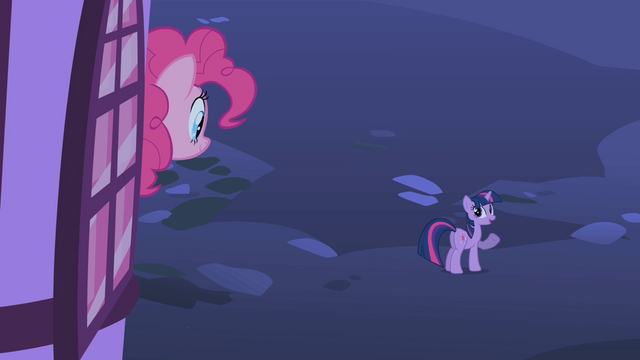 File:Pinkie Pie looking at Twilight S1E25.png
