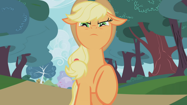 File:Applejack serious face S01E04.png