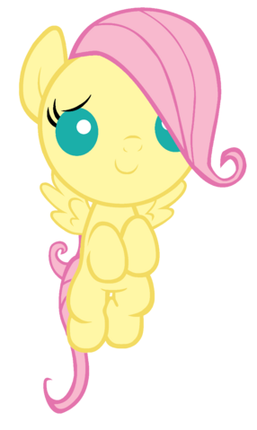 File:FANMADE foal Fluttershy vector.png