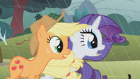 Applejack and Rarity stunned S1E8